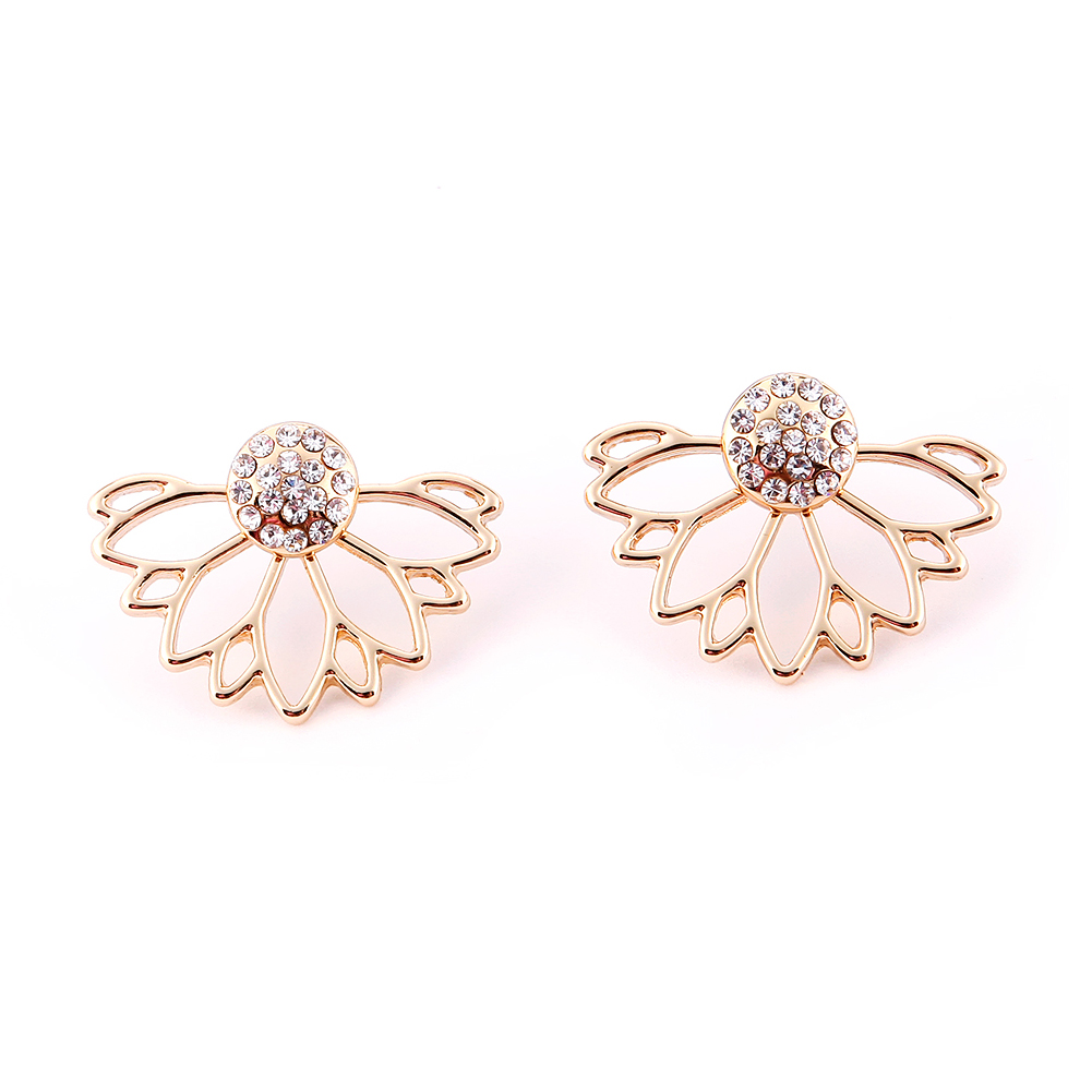 1 pair rhinestone crystal charm ear stud simple lotus flower shape 1 pair rhinestone crystal charm ear stud simple lotus flower shape earrings fashion jewelry izmirmasajfo