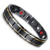 Luxury Fashion Health Energy Bracelet Men Stainless Steel Bio Magnetic Anti-fatigue Anti-radiation Bracelets Jewelry