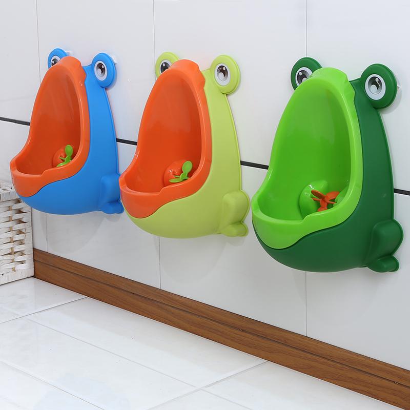 Fashion Frog Shaped Design Kids Potty Toilet Training Bathroom Accessories Urinal for Boys Pee