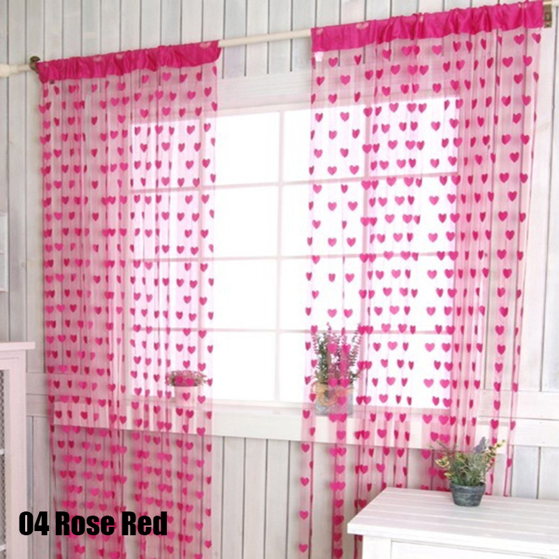 Colorful Romantic Love Pattern Line String Curtains House Window ...