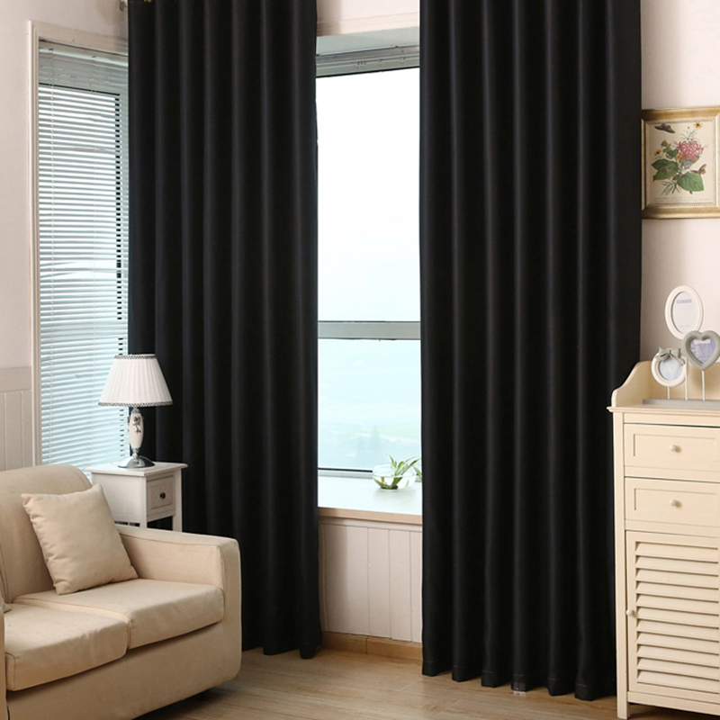 Solid Color Shade Window Kitchen Bathroom Curtain Door Divider Sheer Panel Drapes Scarf Curtain