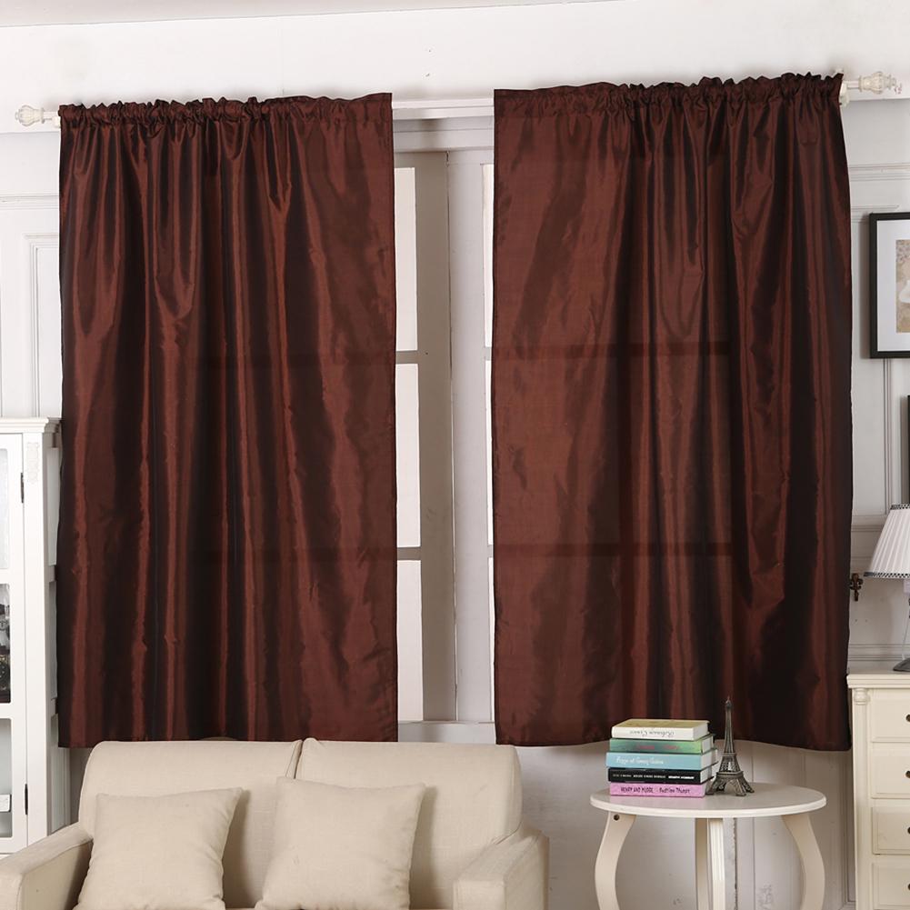 Solid Color Window Kitchen Bathroom Curtain Door Divider