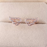 Charming Adjustable Angel Wing Ring Crystal Rhinestone Zircon Silver/Gold Plated Rings Women Jewelry