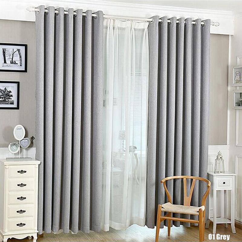 Solid Color Cotton Linen Shade Window Kitchen Bathroom