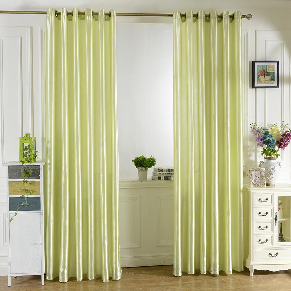 Bright Solid Color Window Kitchen Bathroom Curtain Door