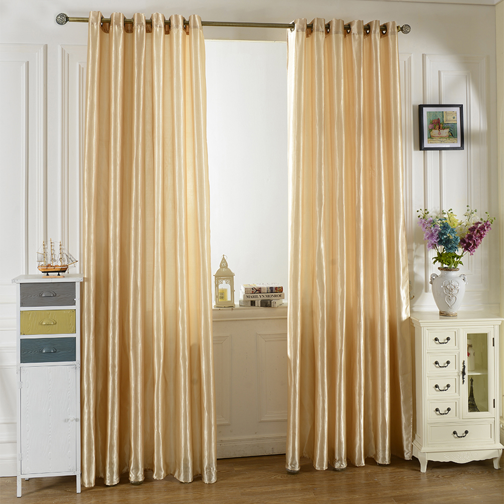 Bright Solid Color Window Kitchen Bathroom Curtain Door Divider Sheer Panel Drapes Scarf Curtain