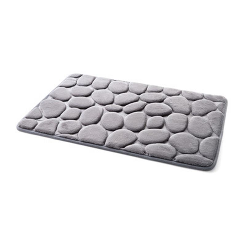 Non Slip Mat Simple Cobblestone Carpet Kitchen Bathroom Doorway Absorbent Non Slip Mat