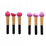 GUJHUI 3pcs/Set Blender Foundation Powder Sponges Applicator Soft Makeup Puff Beauty Cosmetic Brushes Set Tools