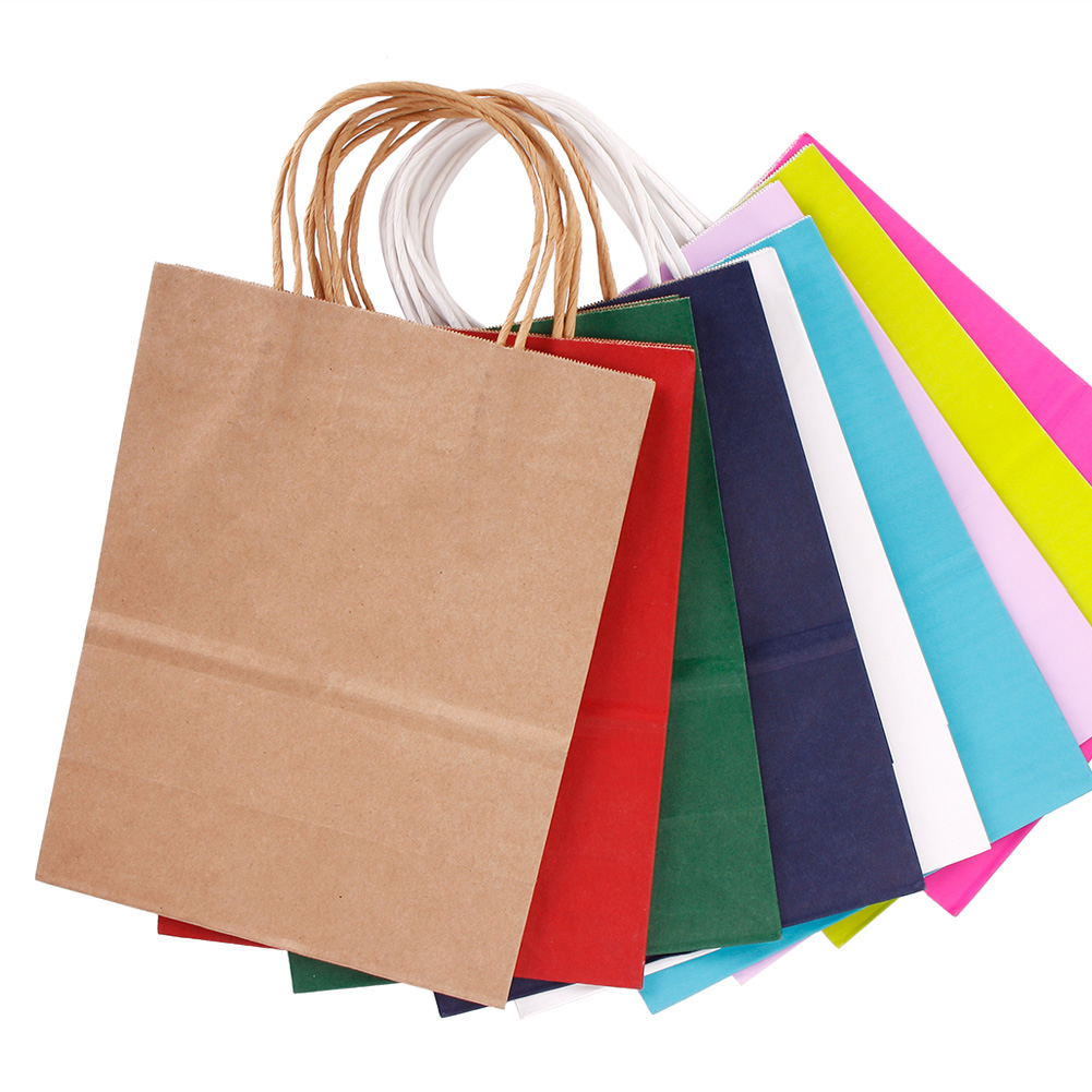 32*11*25cm Party Bags Kraft Paper Gift Bag With Handles Recyclable Loot Bag