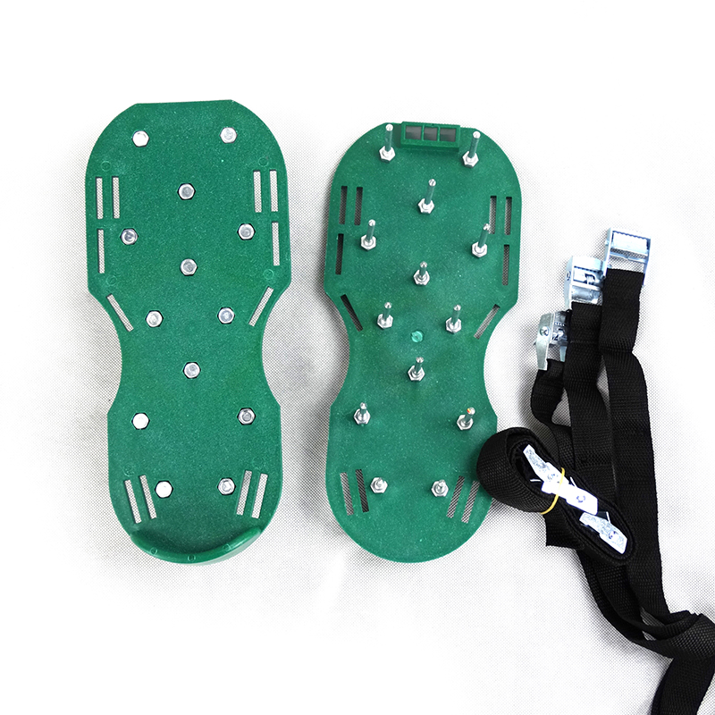 Lawn Aerator Shoes Adjustable Straps Metal Buckles Heavy Duty Garden Spikes  Sandals
