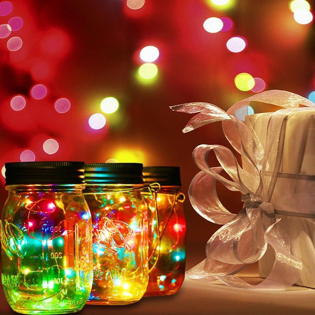 20 Led Fairy Light Solar Mason Jar Lid Lights Color