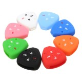 Car Key Case Cover 4 Button Silicone Keyless Remote Key Case Shell Cover For TOYOTA Corolla Camry