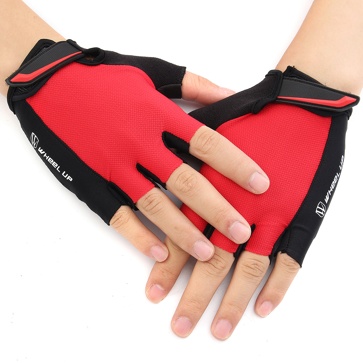 Universial Motorcycle Riding Half Fingers Fingerless Gloves Size M