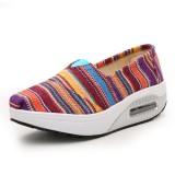 Casual Flat Shoes Canvas For Women Sport Ourddor Rocker Sole Shoes