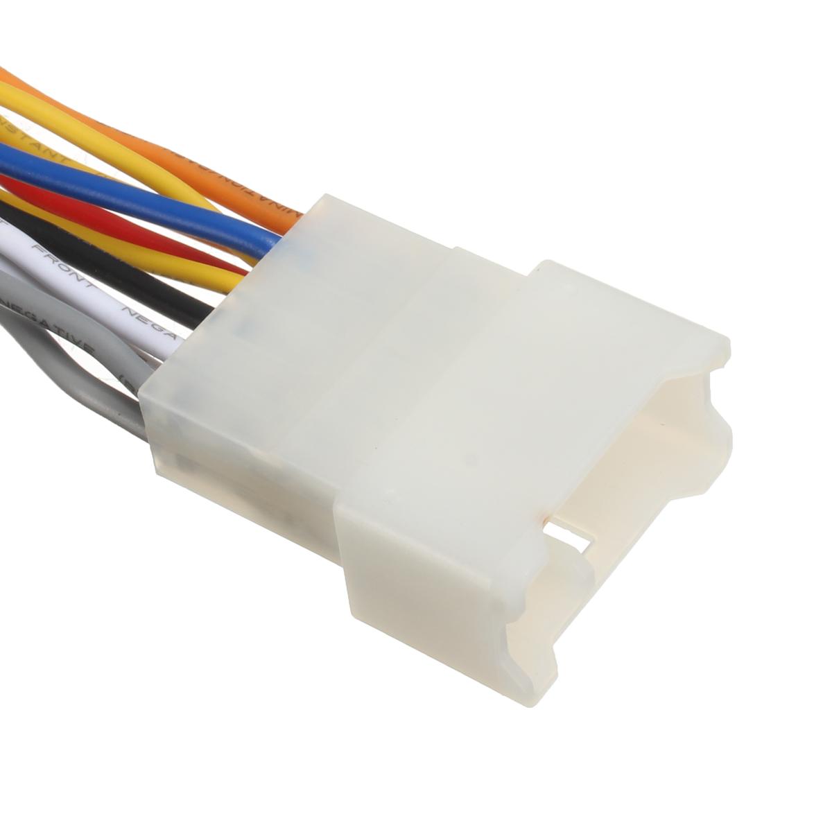 car stereo radio player wiring harness dvd adapter plug