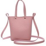 Women PU Leather  Candy Color Small Handbag Phone Bag Shoulder Bag Crossbody Bag