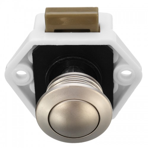 P01-WN Camper Car Push Lock 20mm RV Caravan Boat Motor Home Cabinet Drawer Latch Button Locks
