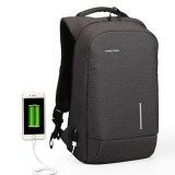 KINGSONS 13/15 Inch Laptop Backpack Waterproof Anti-theft Backpack with External USB Port