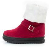 Women Winter Ankle Boots Zipper Fur Lining Keep Warm Snow Boots