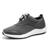 Men Breathable Mesh Adjustable Lace Up Athletic Shoes