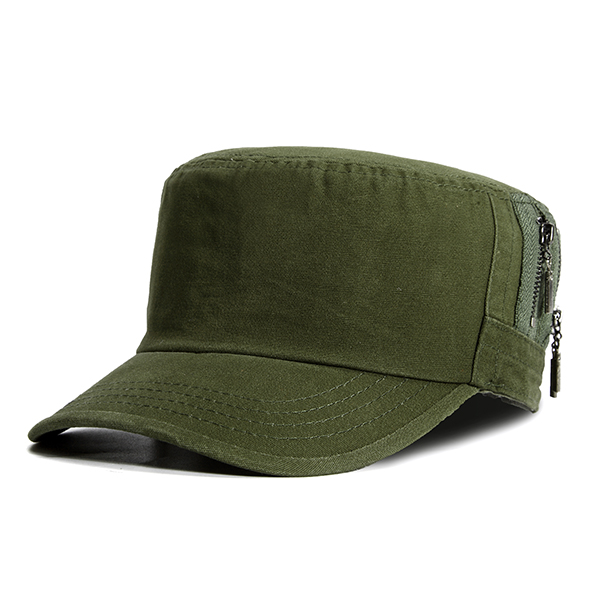 dfc5286fefc Mens Casual Cotton Baseball Caps Outdoor Army Durable Flat Top Hats  Adjustable