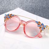 Women Cat Eye Crystal Frame Anti-UV Sunglasses Vintage Outdoor Eyewears