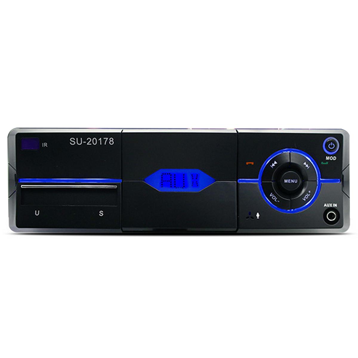 bluetooth car stereo fm radio sd usb aux rc mp3 player. Black Bedroom Furniture Sets. Home Design Ideas