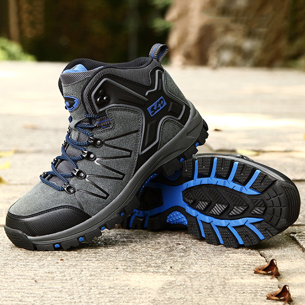 Men Warm Boots Outdoor Hiking High Top Athletic Shoes