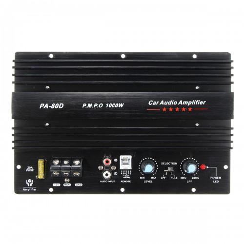 12V 1000W Mono Car Audio Power Amplifier Powerful Bass Subwoofers Amp