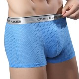 Soft Cool Ice Silk Breathable Mesh U Convex Pouch Boxer Briefs for Men