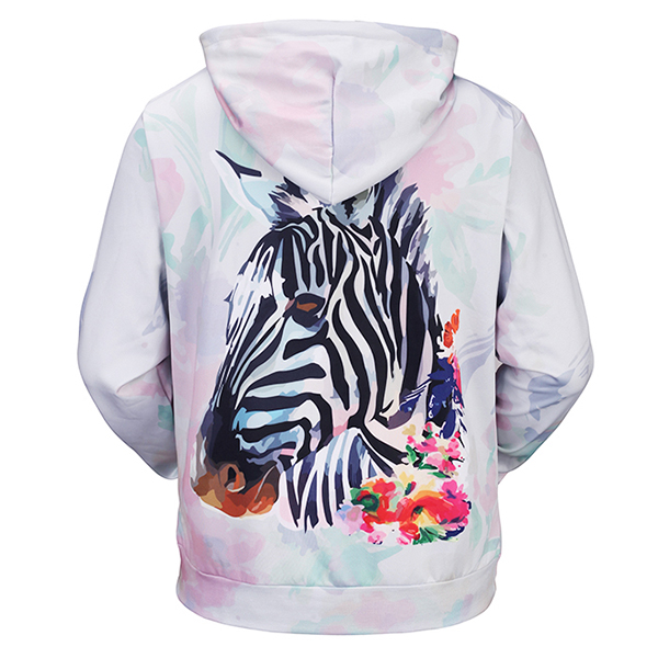 Men's Fall Winter 3D Animals Printing Hoodies Casual Fashion Polyester Sport Sweatshirt