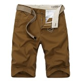 Summer Men's Casual Cotton Shorts Pure Color Large Size Knee Length Shorts