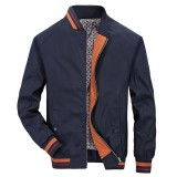Mens Casual Business Anti Wrinkle Slim Fit Spring Autumn Baseball Collar Jacket