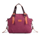 Women Canvas Casual Vintage Large Capacity Canvas Handbag Shoulder Bag Crossbody Bags