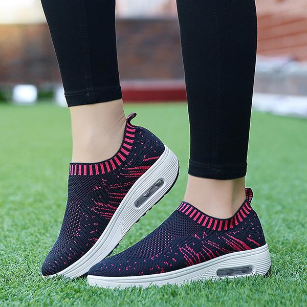 Mesh Rocker Sole Shoes Women Breathable Light Casual Sport Outdoor Shoes