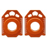Pair CNC Rear Axle Spindle Chain Adjuster Blocks For KTM SX EXC XCW 125-530 20mm
