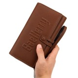 Mens Business Clutches Bag Vintage Long Purse 16 Card Slots Card Holder Wrist Handbag