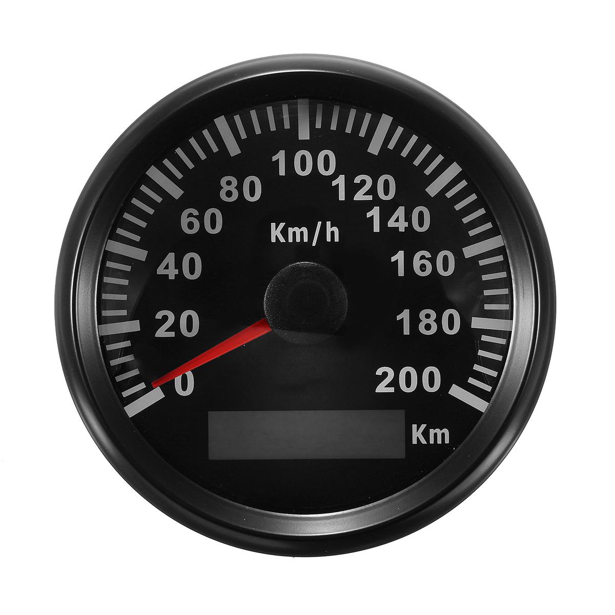85mm 200 Km H Stainless Gps Speedometer Waterproof Digital