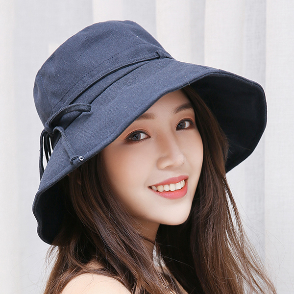 bcbaf6f4cdd Women Summer Casual Cotton Bucket Hat Foldable Wide Brim Sunscreen Beach Cap  · 680ccaa7-7093-4c41-ab38-4fba8176a2ae.jpg ...