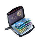RFID Antimagnetic Genuine Leather 40 Card Slots Card Holder Passport Storage Bag
