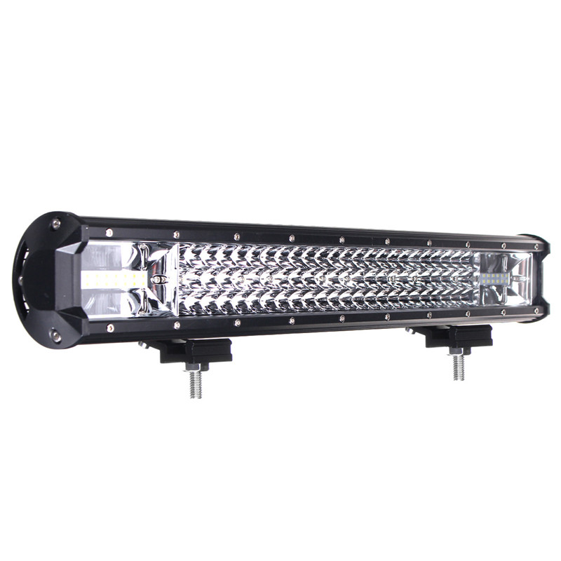 22 inch 648w led light bar flood spot combo beam driving. Black Bedroom Furniture Sets. Home Design Ideas