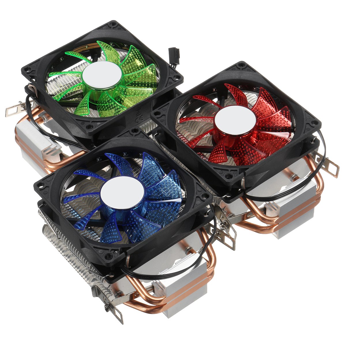 9cm LED 3 Pin CPU Cooling Fan Cooler Heatsink For Intel LAG/1155/1156 AMD  754/AM2/AM2+AM3/FM1
