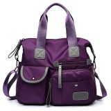 Women Nylon Waterproof  Large Capacity Multi Pocket Multi Function Handbag  Crossbody Bag