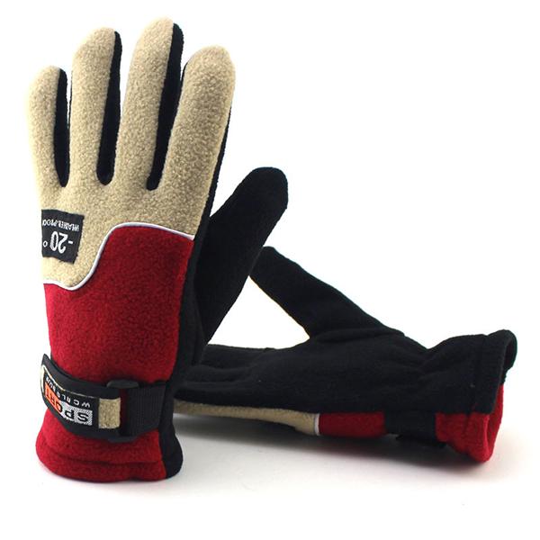 Men Women Winter Warm Gloves Climbing Riding Outdoor Windproof  Anti-slip Ski Mittens