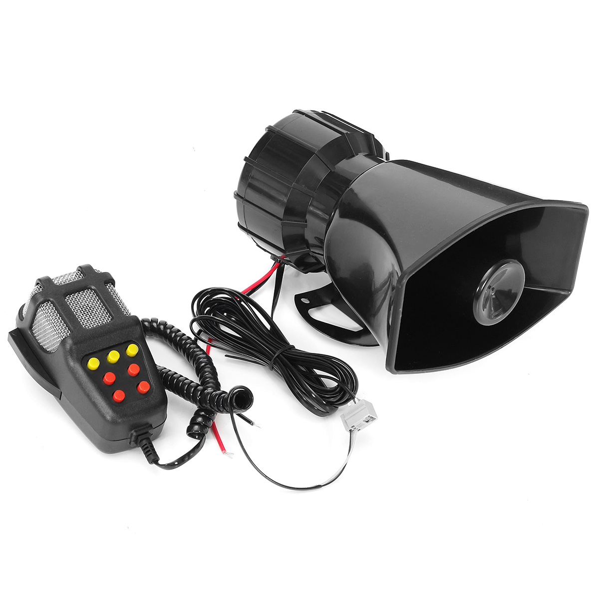 ECCPP 12V 7 Tones Tones Sound Warning Alarm Horn Electric Horn for Fire Alarm Traffic Emergency