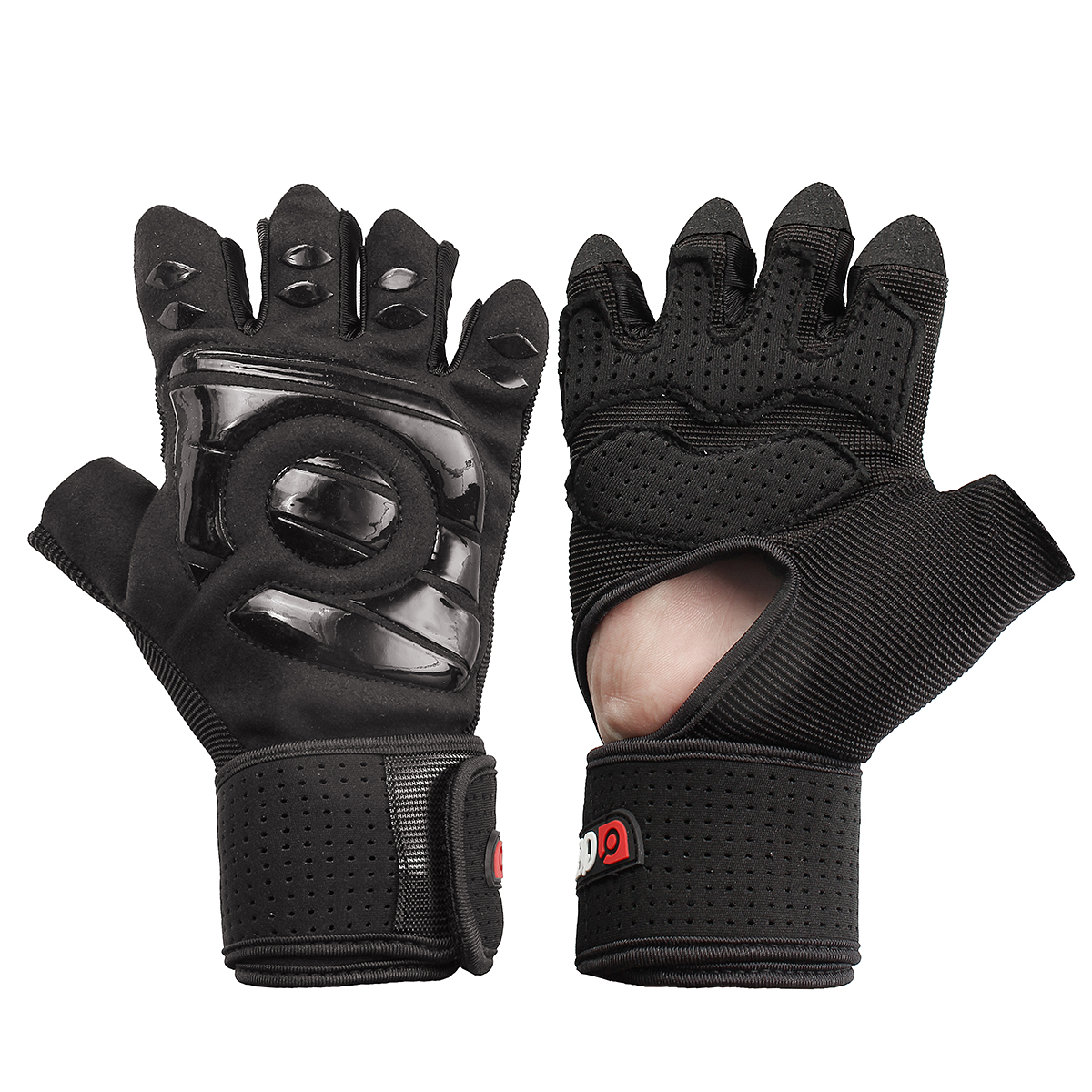 Aqf Weight Lifting Gloves Ultralight Breathable Gym Gloves: Anti-Skid Wrist Half Finger Sport Lifting Gloves Gym