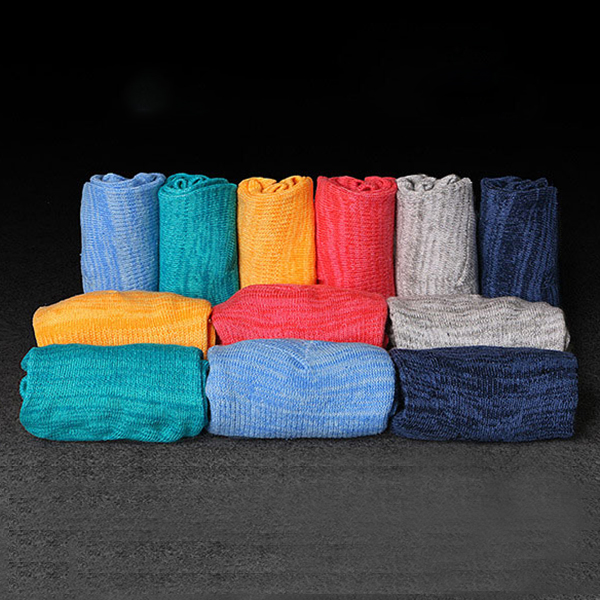Men Summer Cotton Breathable Boat Socks Non-Slip Solid Color Invisible Socks
