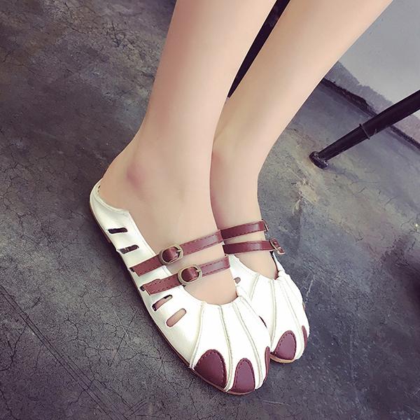 Round Toe Slipper Summer Casual Flat Womens Beach Sandals