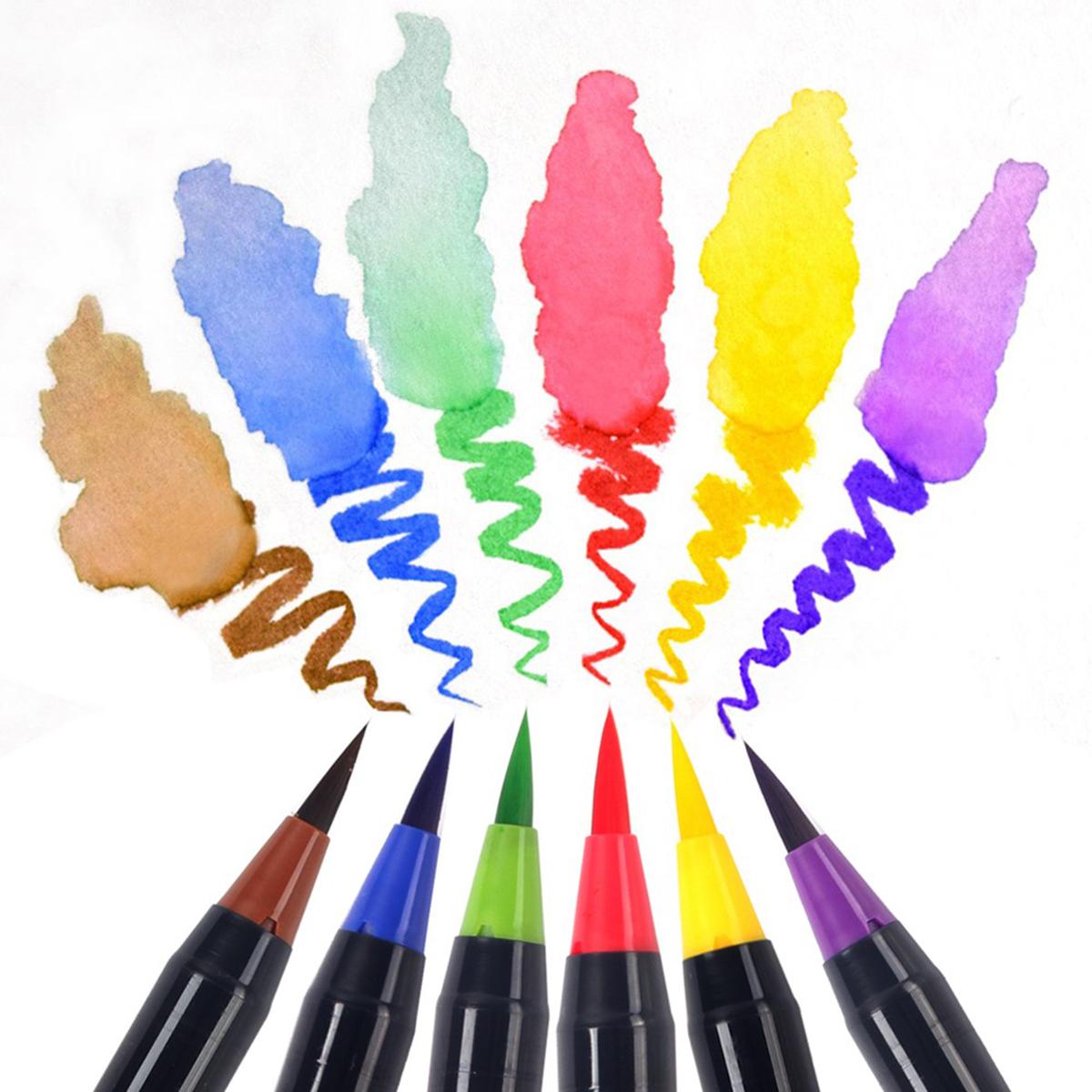 20 Colors Watercolor Drawing Writing Brush Artist Sketch ...