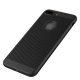 Bakeey™ 3 in 1 360° Full Protection Mesh Dissipating Heat Case with Tempered Glass for iPhone 7Plus/8Plus